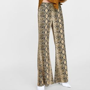 Zara snake skin flared pants